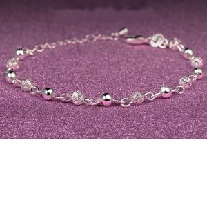 Jewelry - Sterling Silver 925 Bracelet PLUS SIZE or Anklet